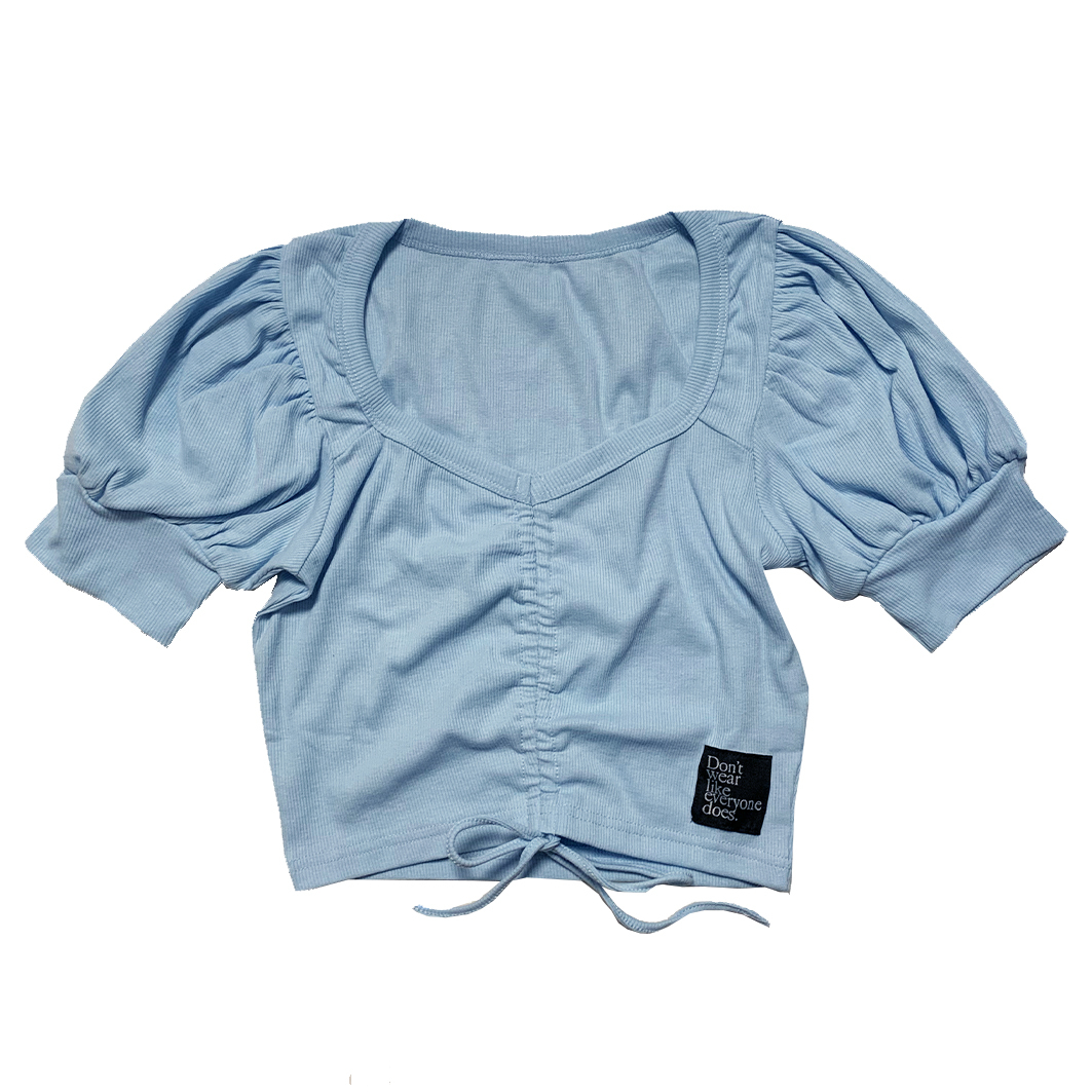 Shirring V-Neck Tops