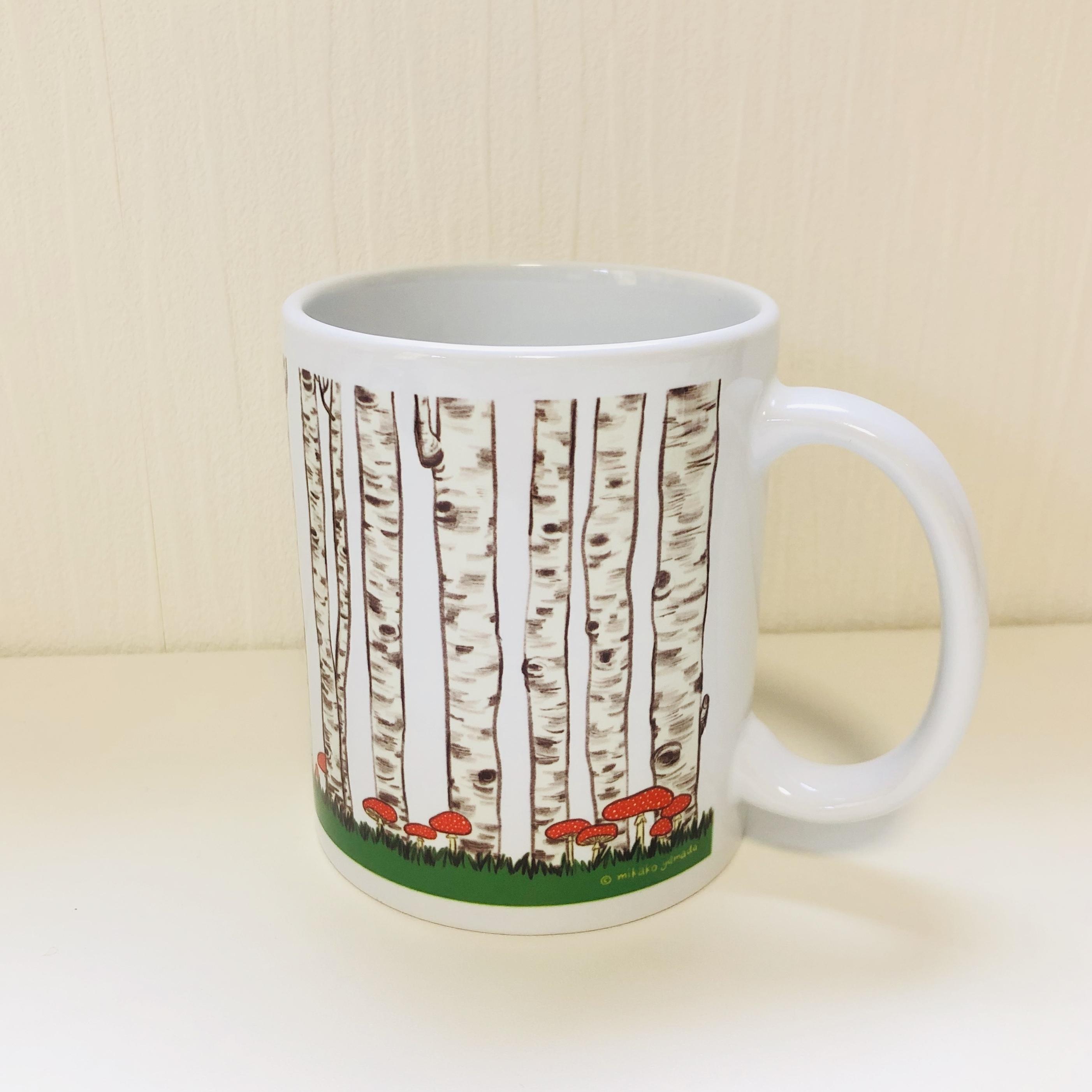 マグカップ『白樺の森』(白)受注生産