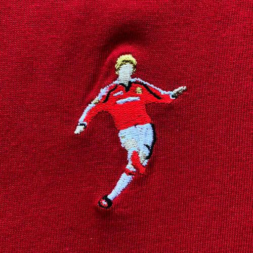 ベックス刺繍Tシャツ 半袖 / レッド | SINE METU - シネメトゥ