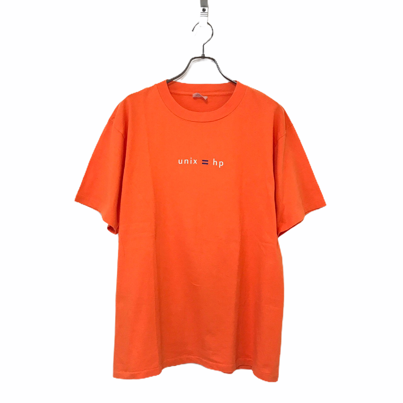 90's United Sports HP Hewlett-Packard unix T-shirt made in USA size L Orange