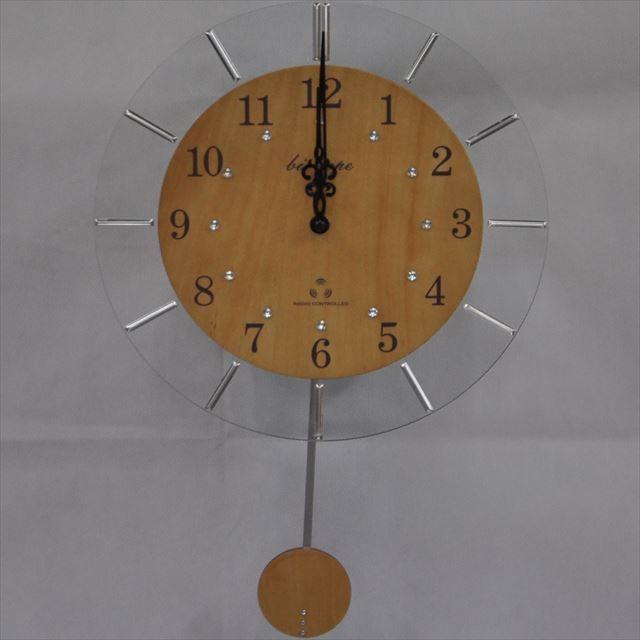 振り子時計 電波時計 電波スロー振り子時計 BIO-001 板尾工芸オリジナル - 画像2