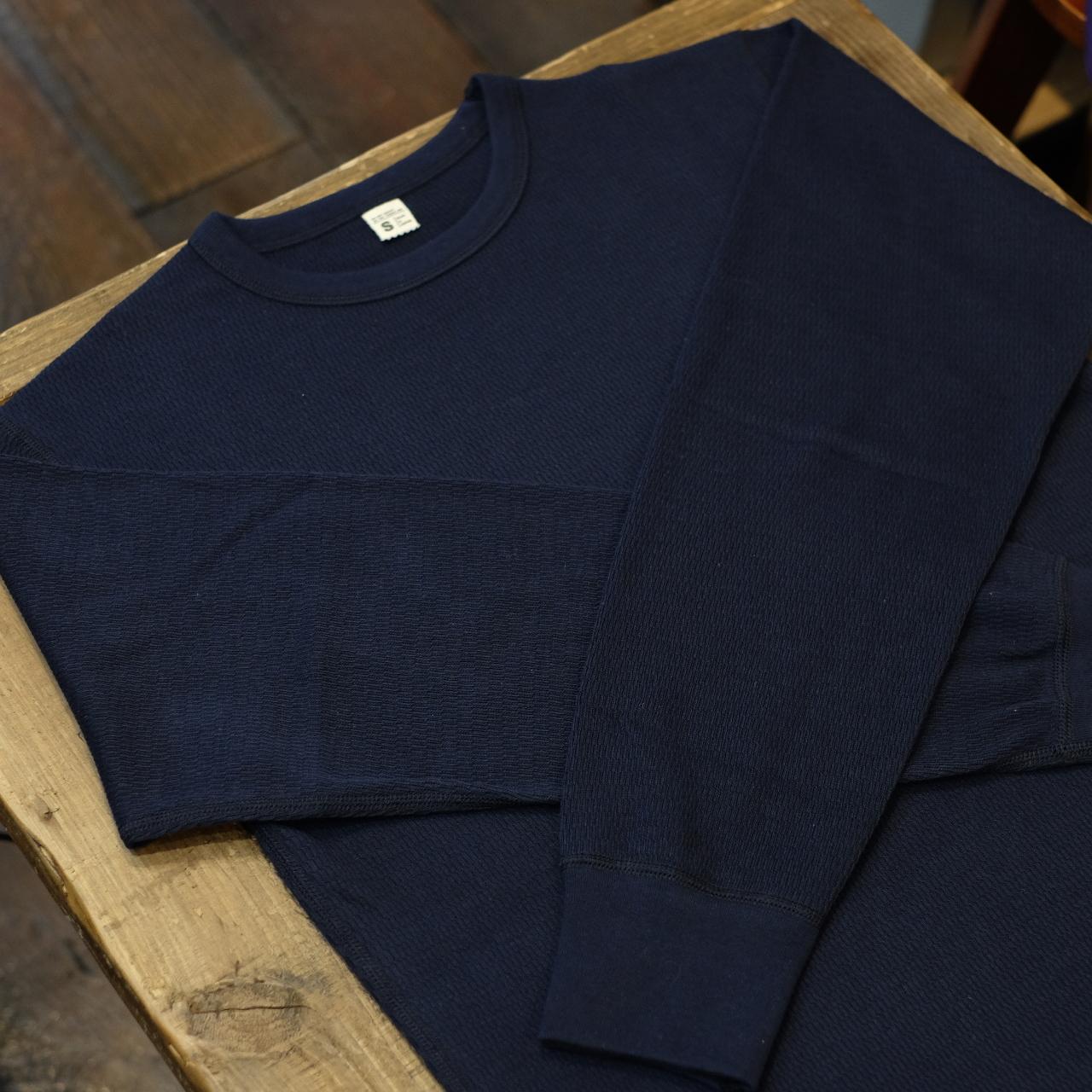 Workers(ワーカーズ) サーマルロングTシャツ クルーネック ネイビー