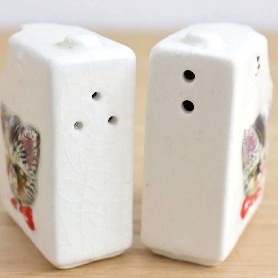 Vintage Cat Salt&Pepper