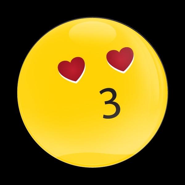 ゴーバッジ(ドーム)(CD1037 - EMOJI KISSING HEART) - 画像1
