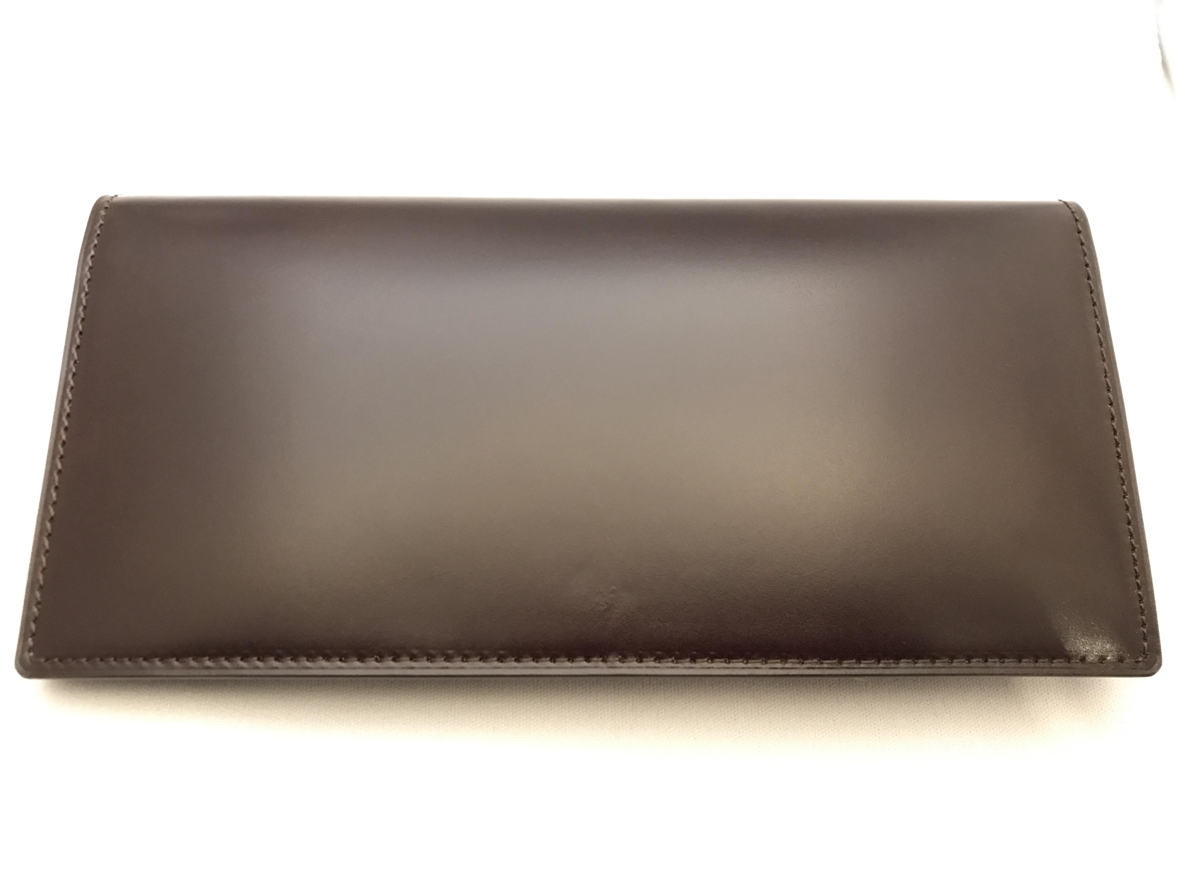 最高級コードバン札入れ財布 チョコ