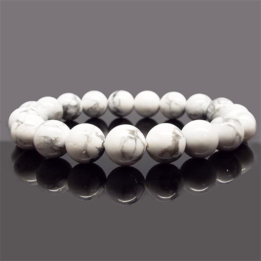 【感情的ストレスからの解放】天然石 ハウライト ブレスレット(8mm)