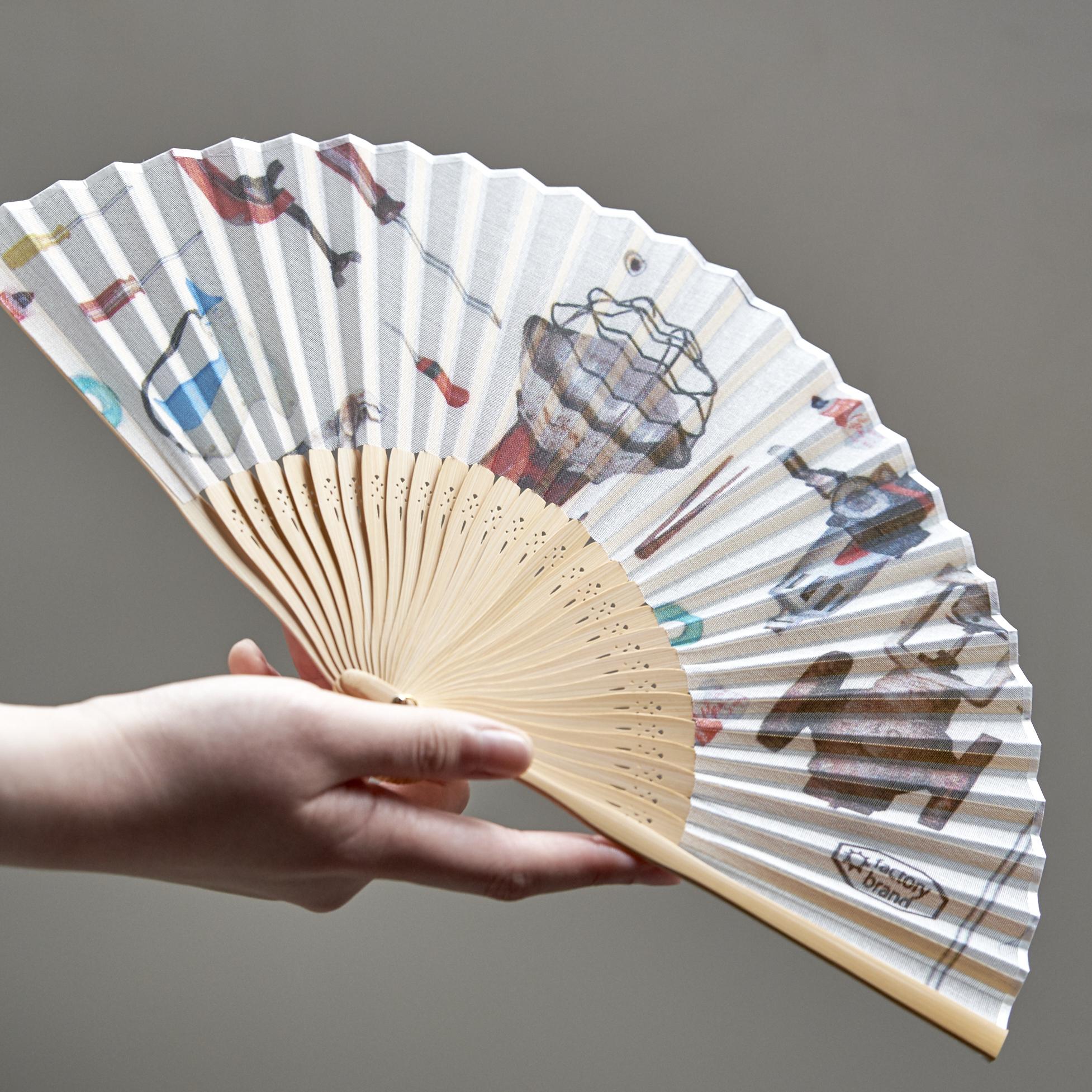 昔ながらの製法で仕立てた綿扇子 - MARUMASU FACTORY - 1color