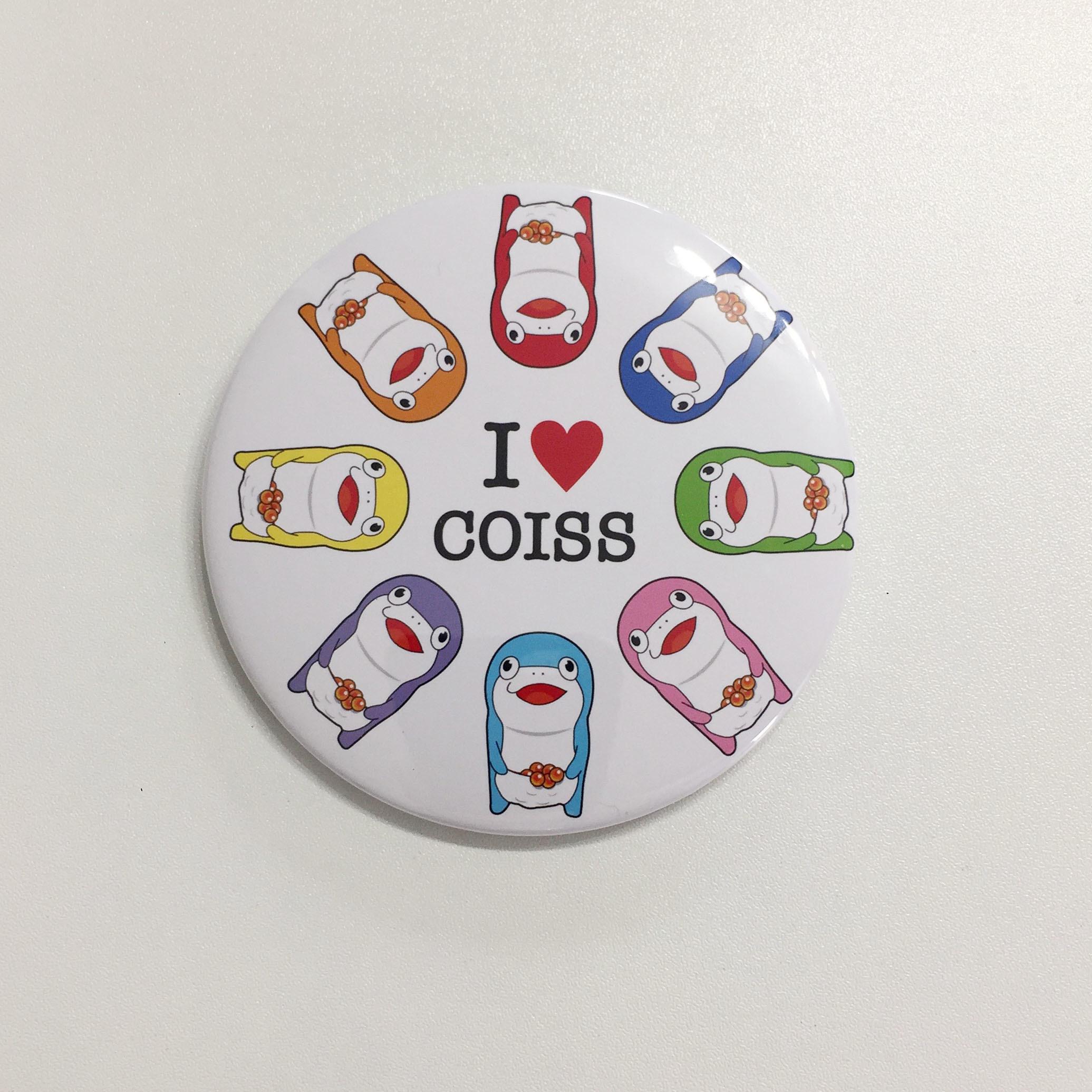 コイス缶バッジ(特大サイズ)I LOVE COISS