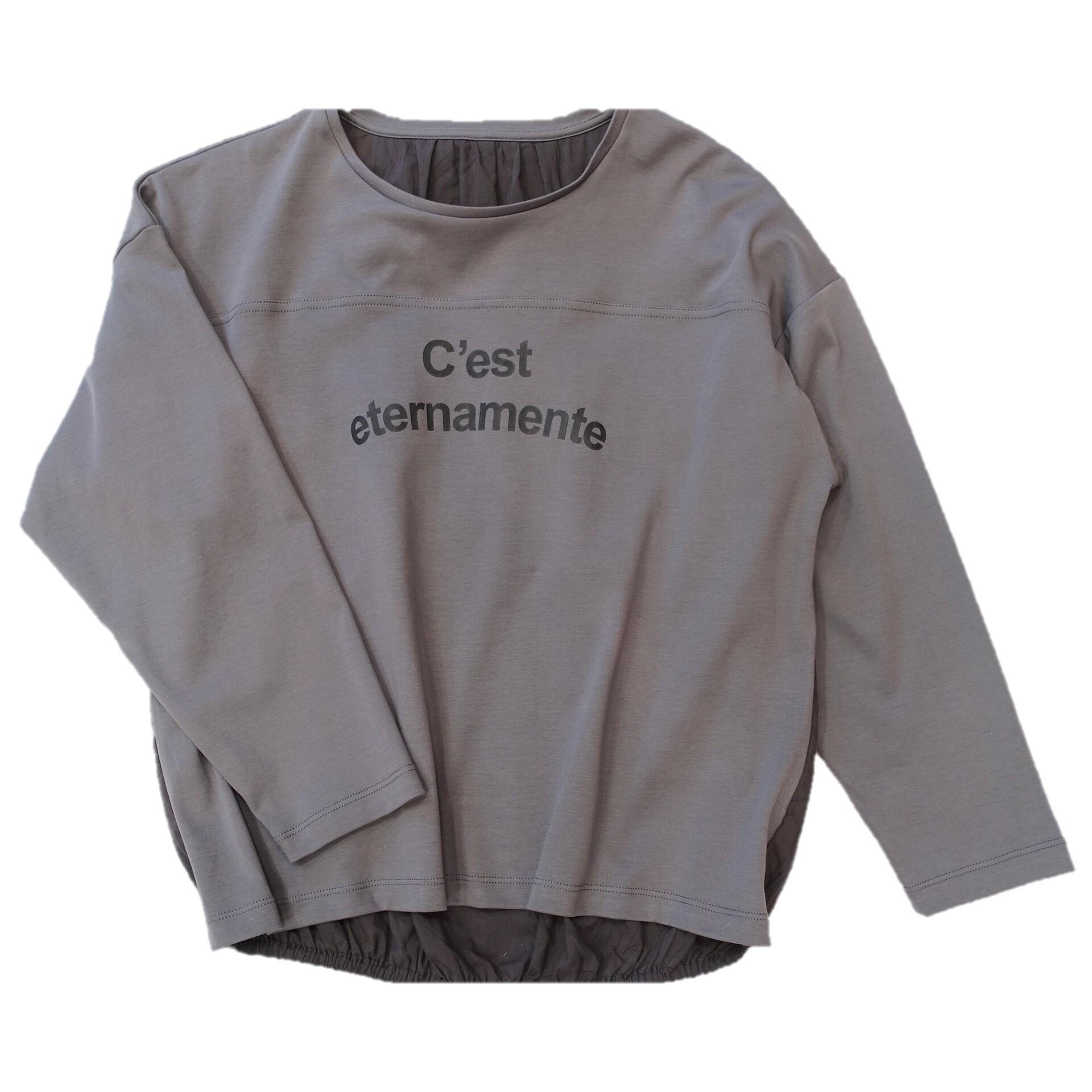 20587  ロゴTシャツ/スモークグレー