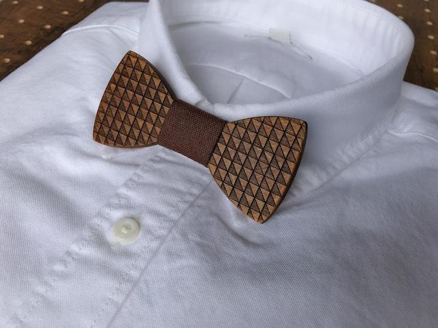 木製 蝶ネクタイ #Chocolat - 画像3