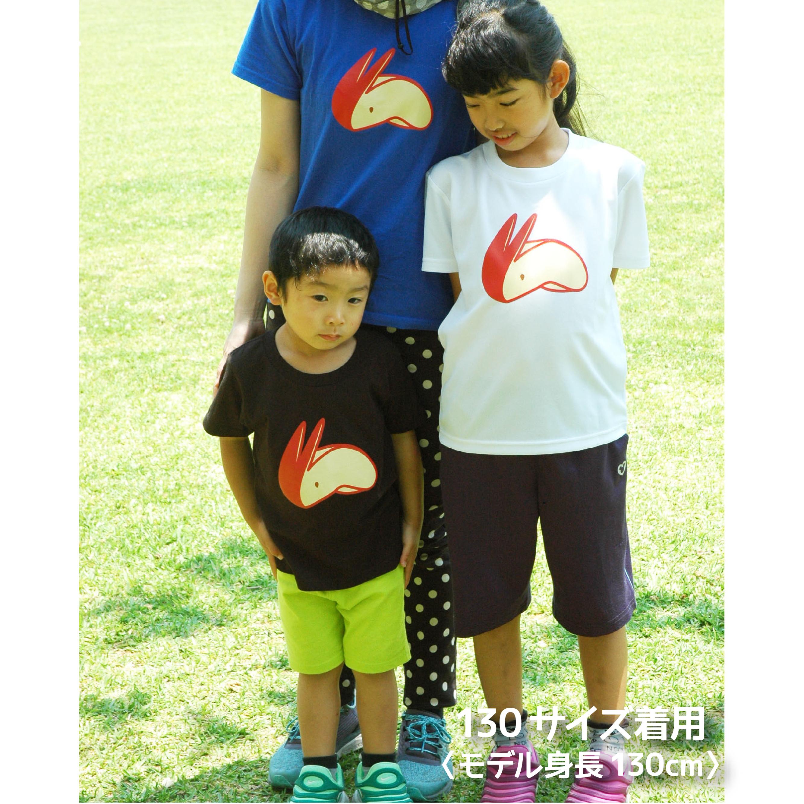 【在庫限り】リンゴうさぎ Tシャツ〈size160〜L〉
