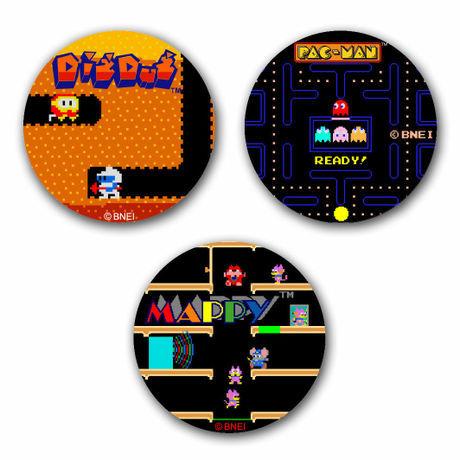 ナムコアーケードコレクション アクセサリー缶バッジ3個セット Ver.2 / GAMES GLORIOUS