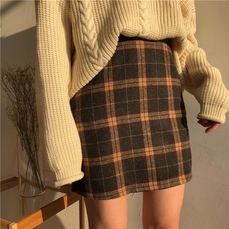【送料無料】タータンチェック柄 ミニスカート