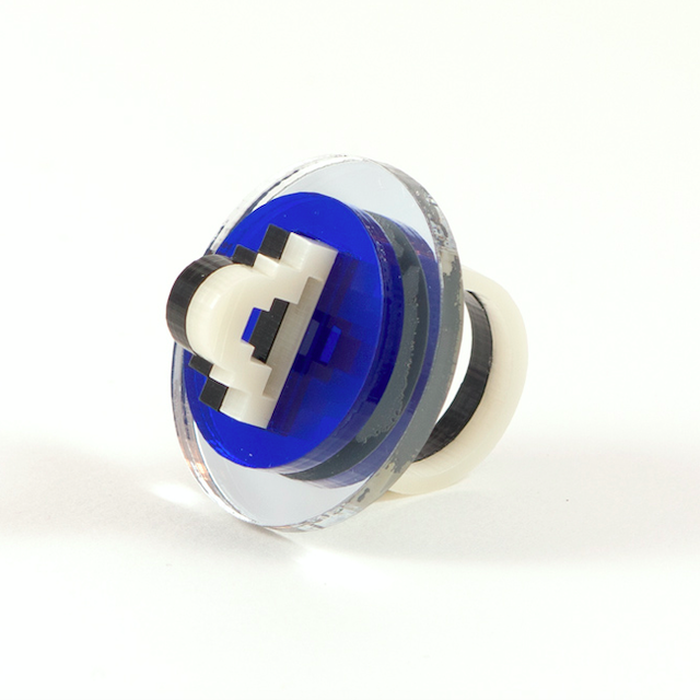 "MYSTIC FORMS ""Geometric Perspex Statement Ring"" リング"
