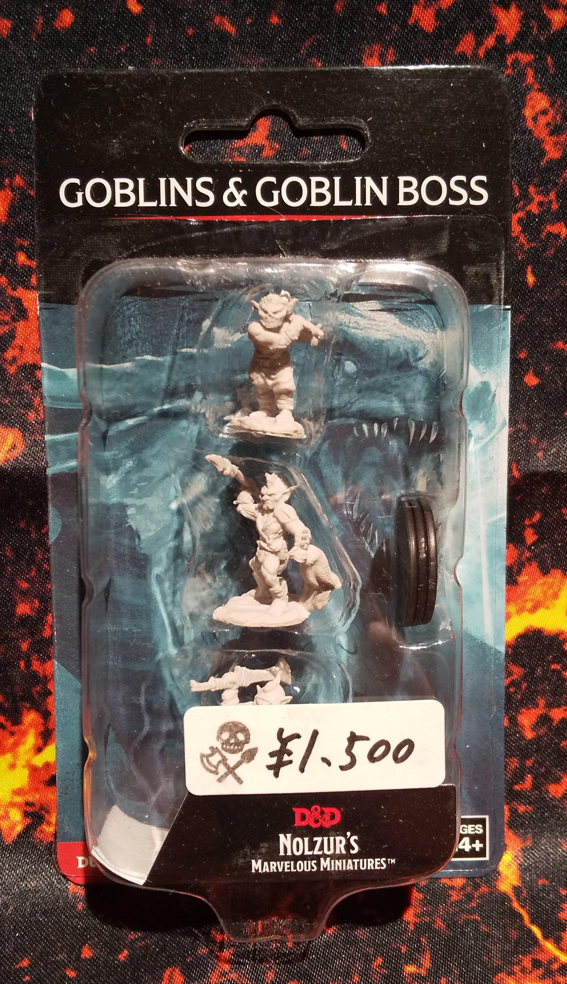 Goblins & Goblin Boss(D&Dオフィシャルミニチュア「Nolzur's Marvelous Unpainted Miniatures」シリーズ)