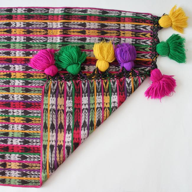 ポンポンペラッへ / ショール /122/ GUATEMALA グアテマラ