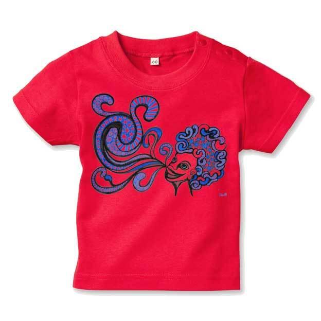 ◆キッズTシャツ 70.80.90サイズ対応◆ ブルーラッパー レッド