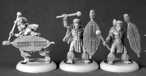 人食い部族の戦士たち/棍棒(3体) - 画像2