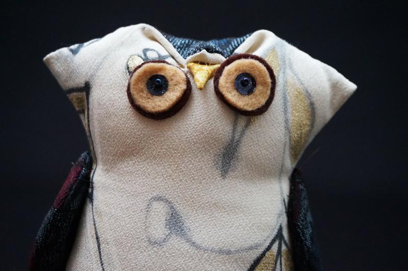 着物、和服の古布人形・縁起物「ふくろう」1 - 画像2