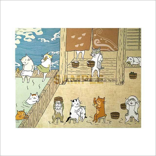 台湾ポストカード「貓咪澡堂」