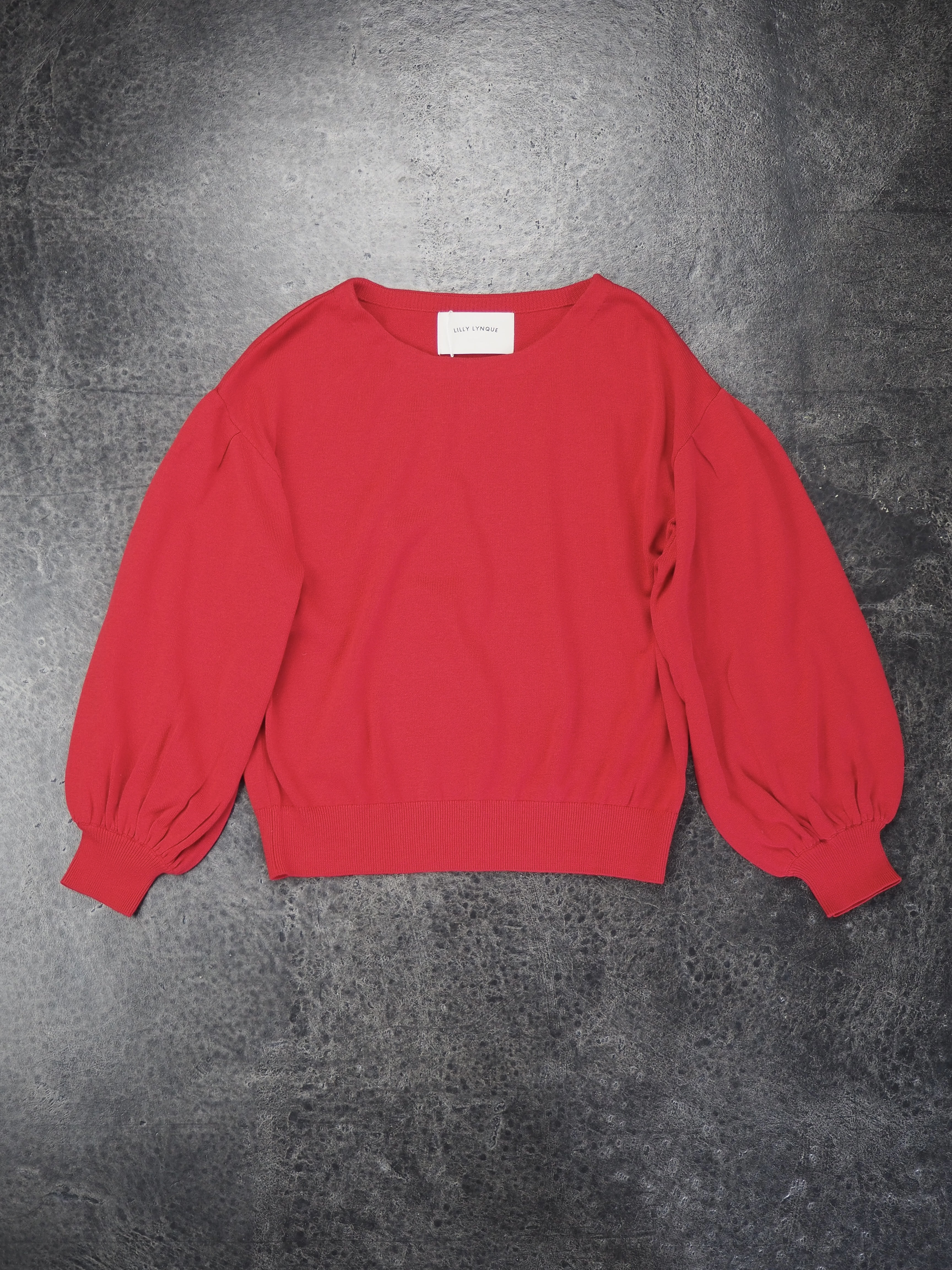 【LILLY LYNQUE】COTTON SILK CREW NECK PULLOVER