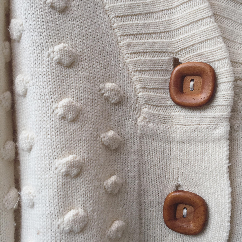 vintage big button cardigan