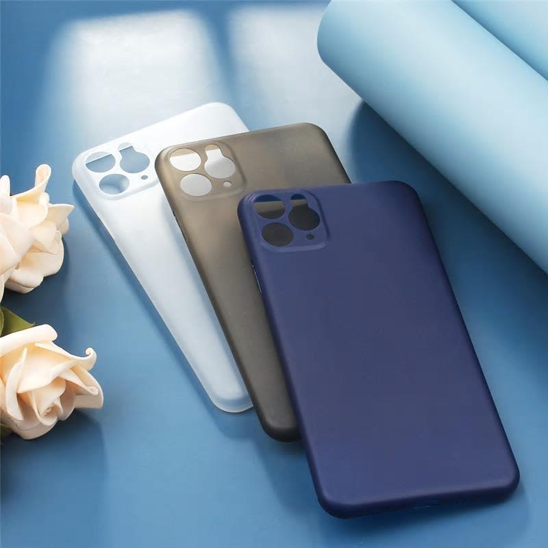 【お取り寄せ商品、送料無料】4カラー シンプル 薄型 マット ソフト iPhoneケース iPhone11
