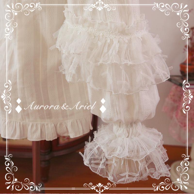 ロリータブラウス/ブラック Aurora Ariel -Annie- Lolita Blouse