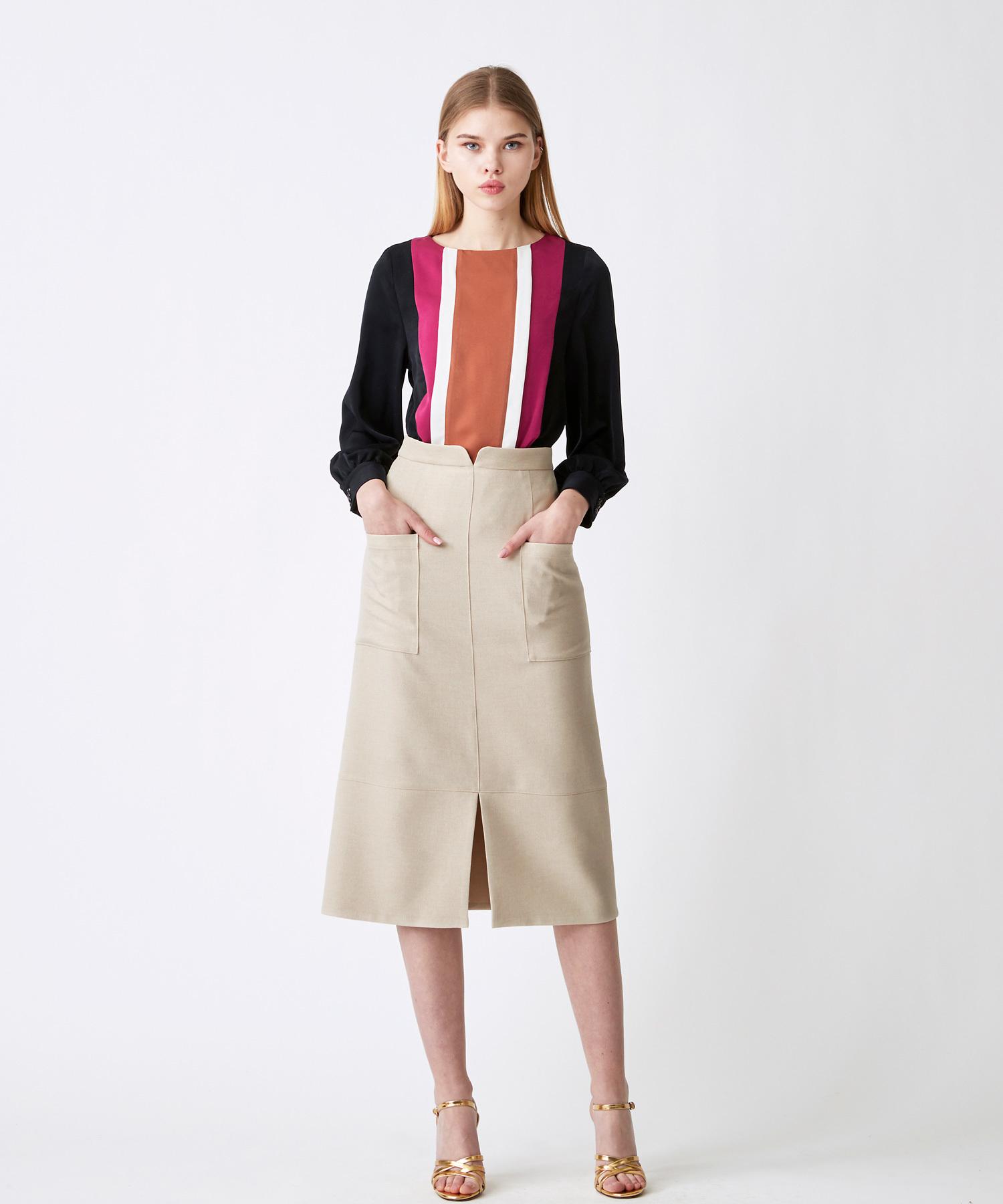 ポケットタイトスカート(ライトベージュ)