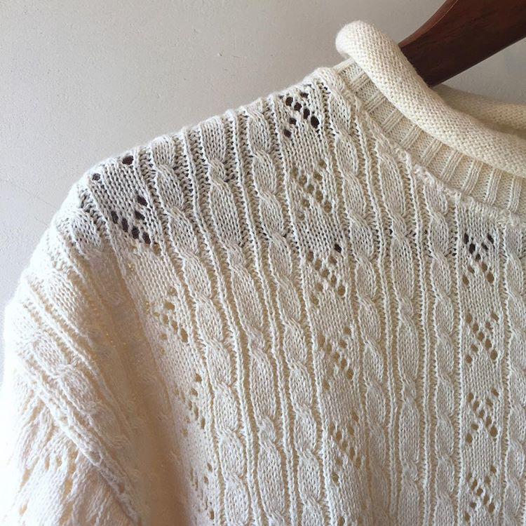 vintage roll callor summer knit tops