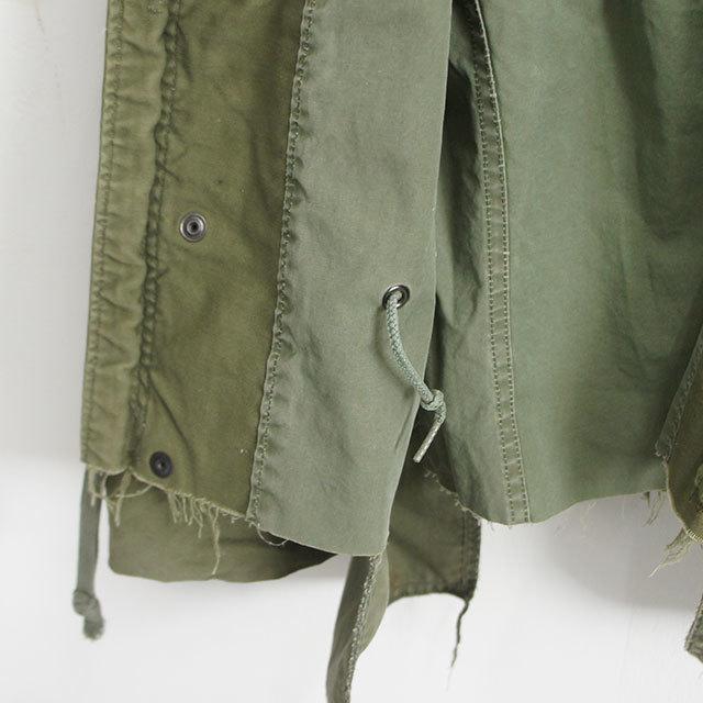 sunny side up サニーサイドアップ リメイクM-65ショートジャケット(OLIVE) メンズ レディース ジャケット M-65 リメイク 通販 (品番sr-182-006)