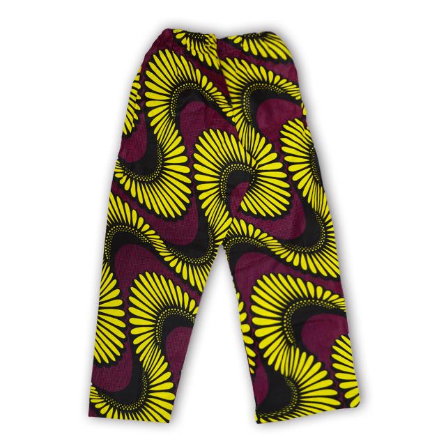 アフリカ柄ズボン(女性M・L)H
