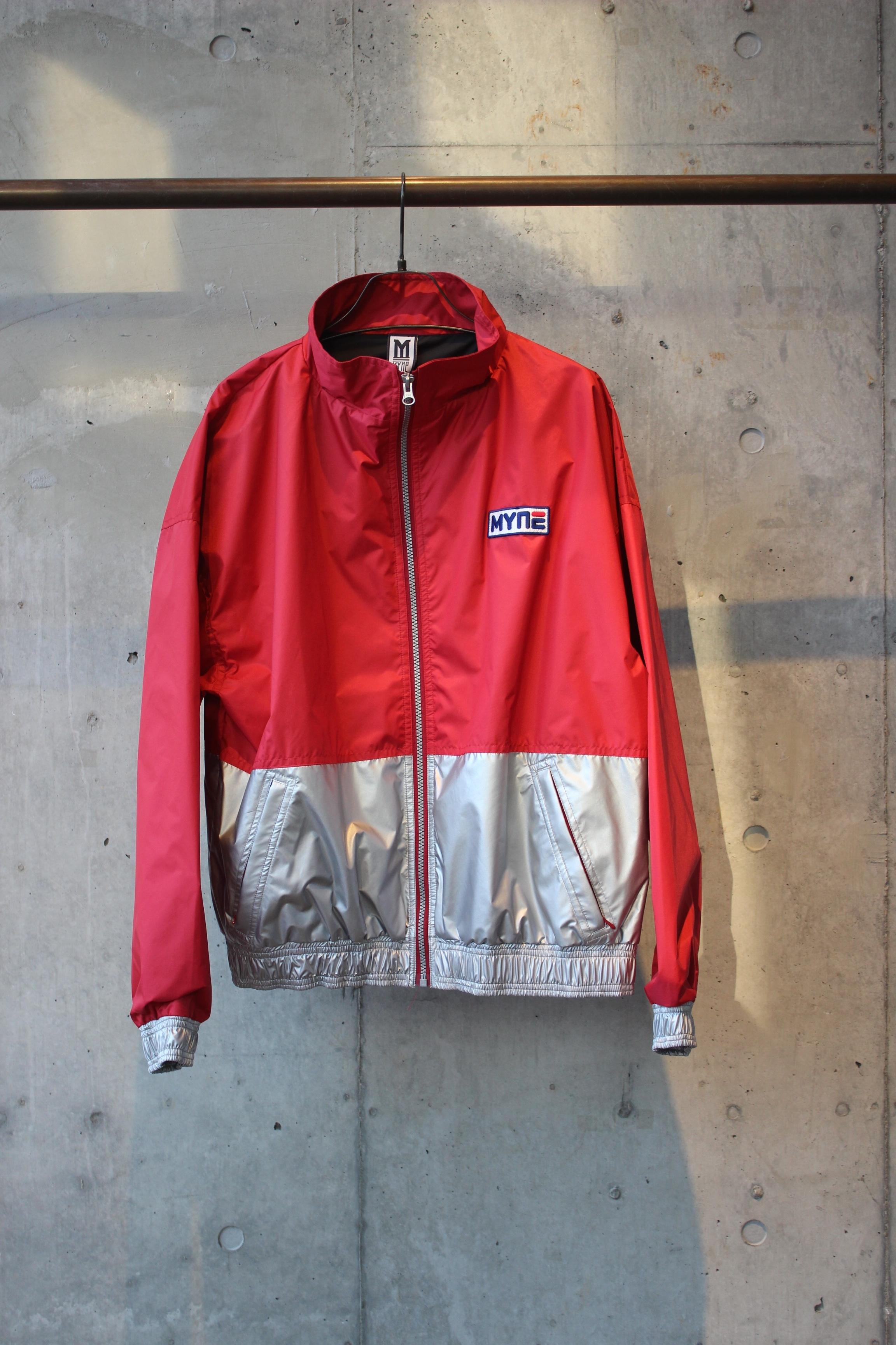 【50%OFF】silver nylon blouson / RED - 画像1