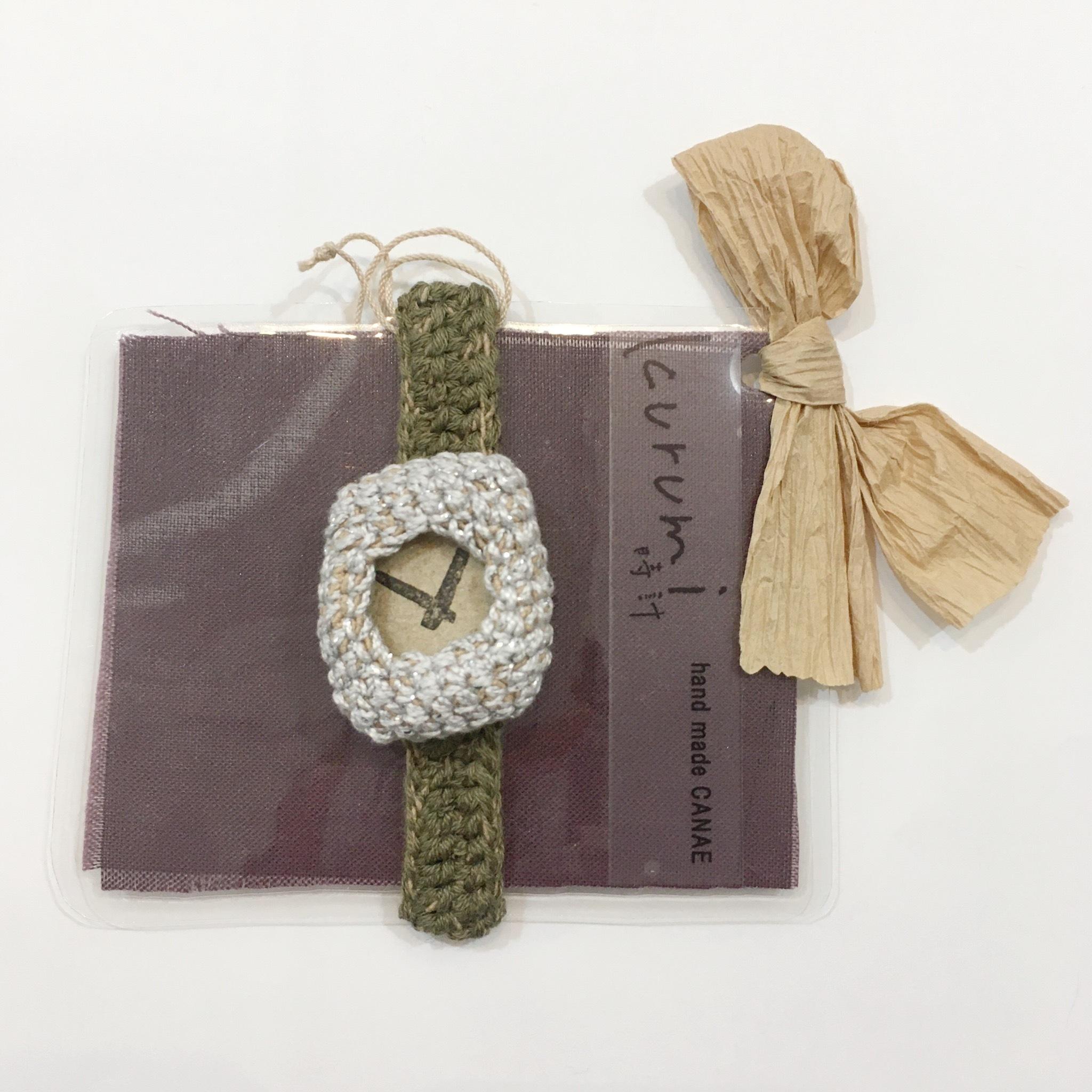 【handmadeCANAE】kurumi時計 替えベルト(小)ナチュラル Lサイズ