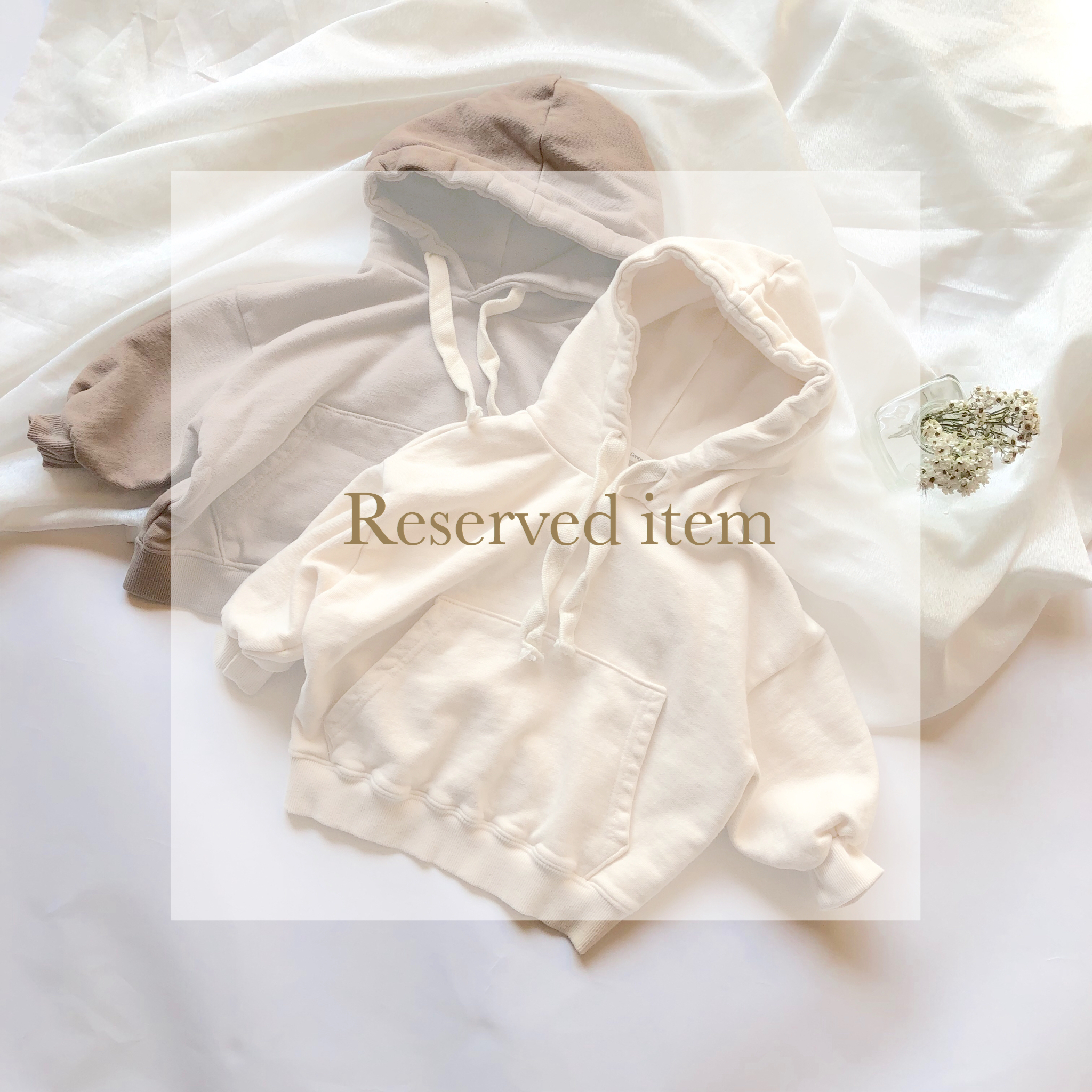 《 Reserved item 》Almond パーカー
