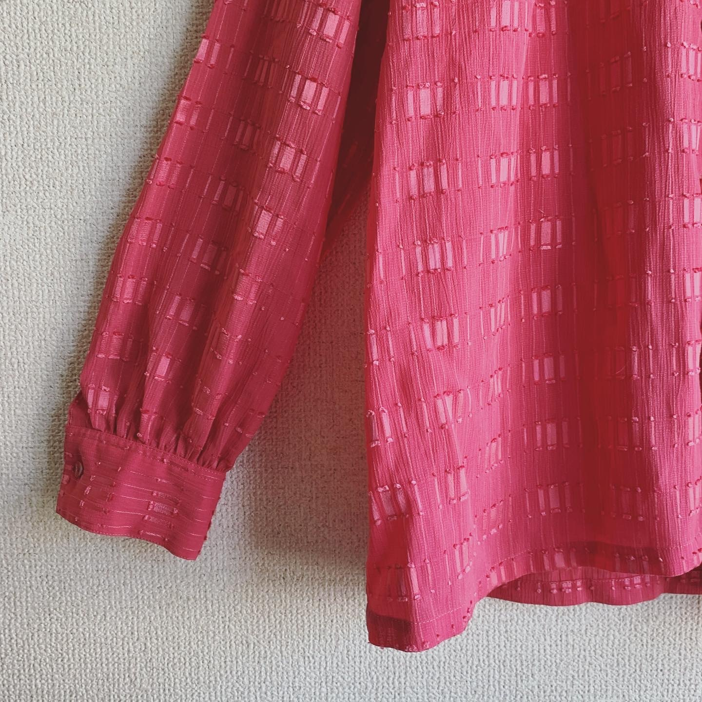 【SALE】vintage design pink blouse