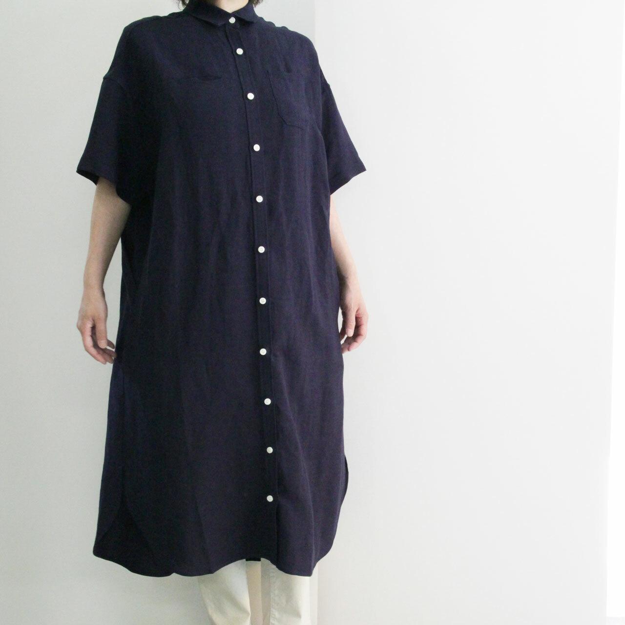 COMM.ARCH  コム・アーチ    LINEN ONE PIECE SHIRT リネンワンピースシャツ  -NIGHT  OCEAN-