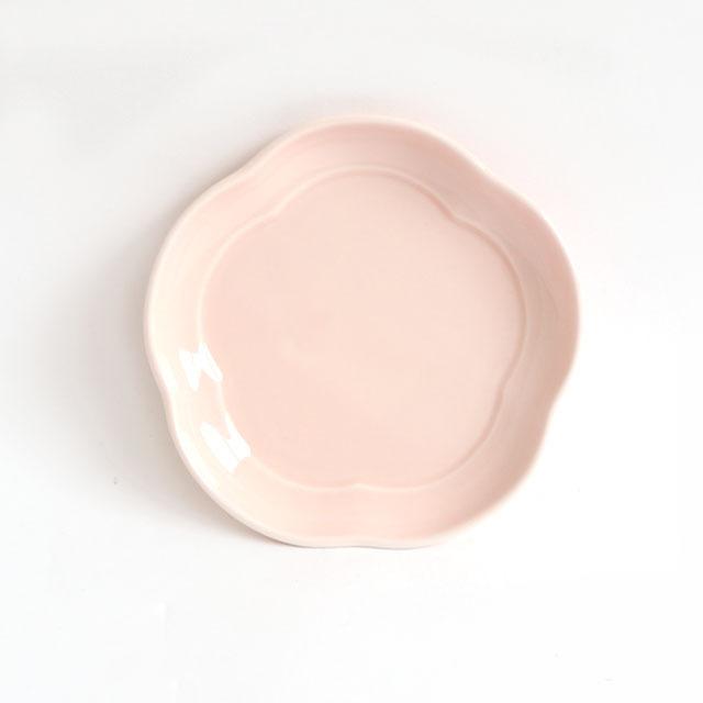 【2053-6210】花丸皿(11.5cm) 可愛いカタチの小皿 チェリー