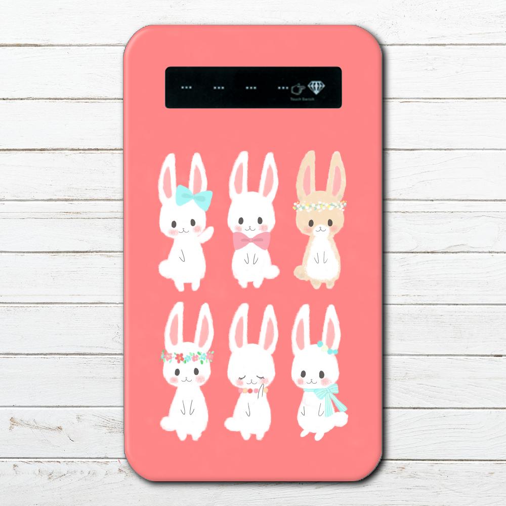 053-001 モバイルバッテリー おすすめ うさぎ ウサギ かわいい 動物