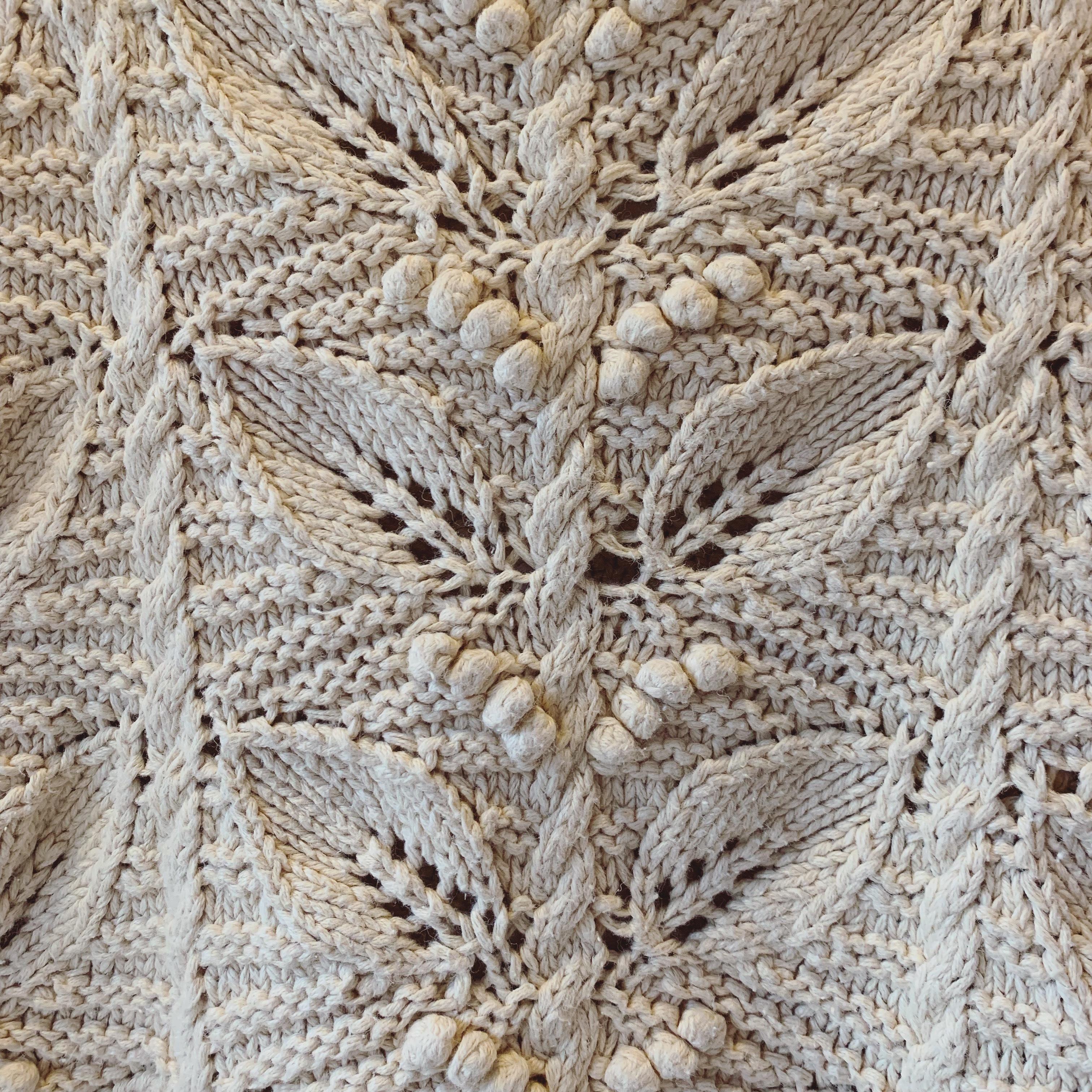 vintage leaf motif knit sweater