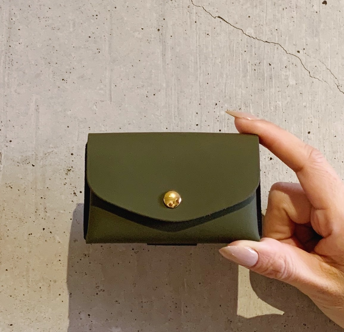 enrich everyday × com-ono Everyday TINY Wallet/KHAKI × ORANGE(カーキ × オレンジ)