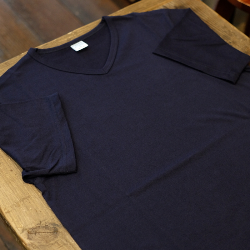 Workers(ワーカーズ) 3PLY VネックTシャツ ダークネイビー