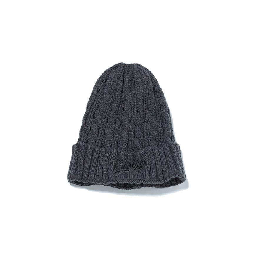 K'rooklyn Logo Knit Cap - Dark Gray