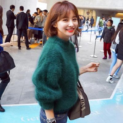 ニットシンプルハイネックセーター♪11色展開☆