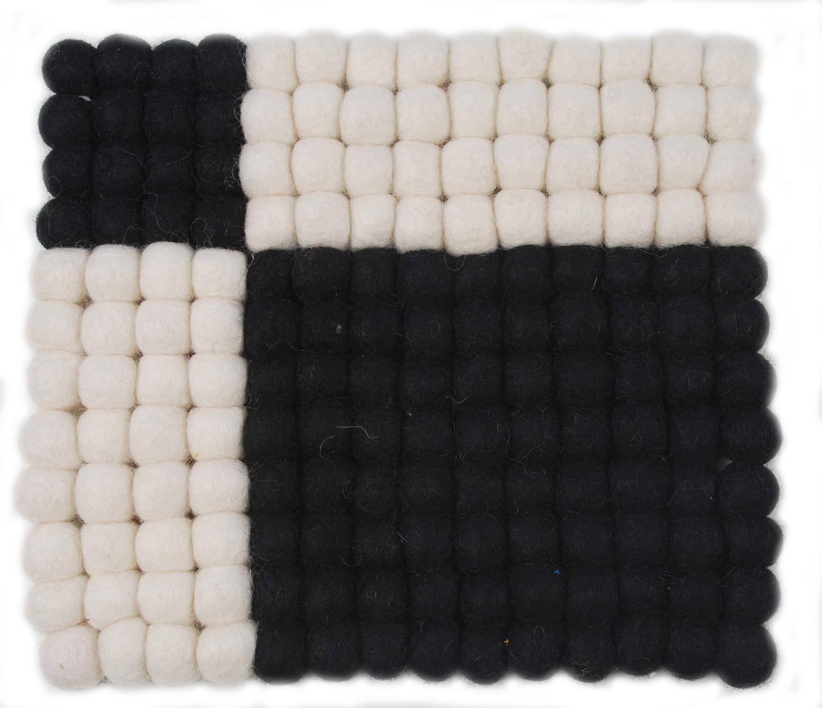 ポットスタンド角 ブラックxホワイト