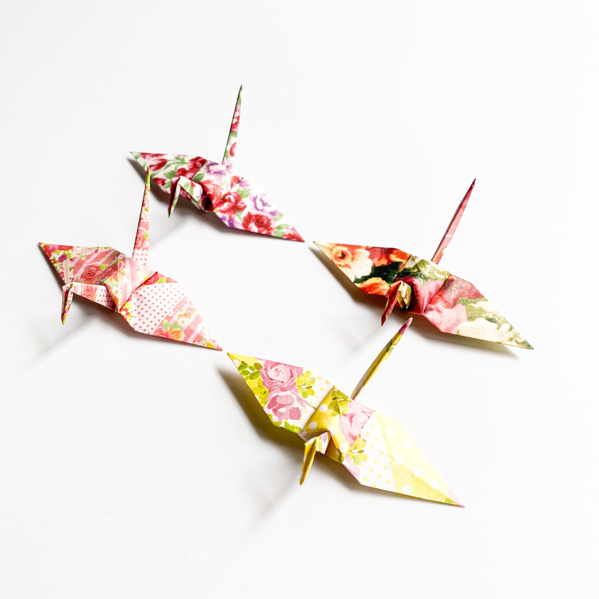 【特別記念価格】フラワーシャワーの折り鶴(神前式、和装婚折り鶴シャワー演出・和風撮影小物)180羽入り