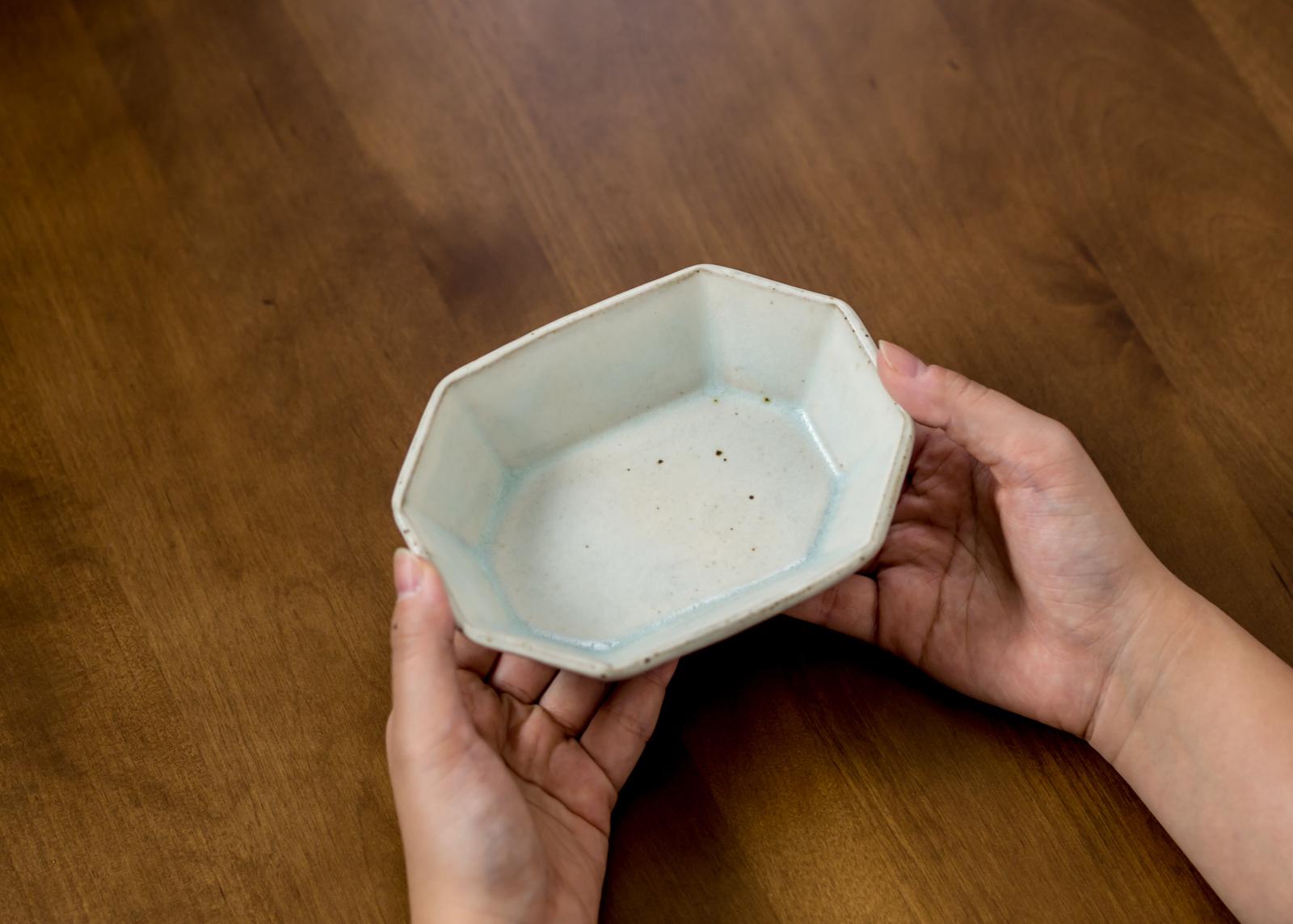 灰マット 鉢角鉢(小鉢)/くるり窯