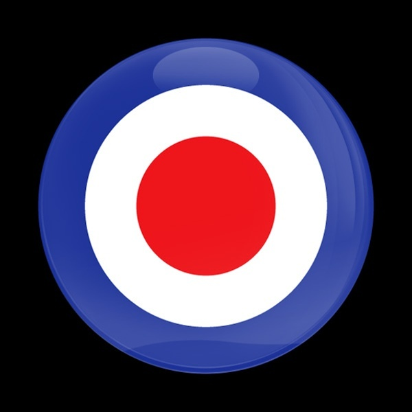 ゴーバッジ(ドーム)(CD0058 - British Royal Air Force Roundel) - 画像1