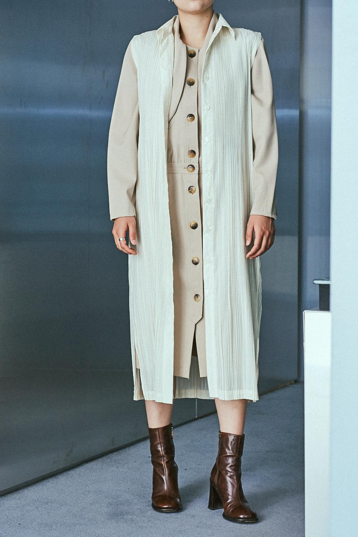 "90's ""Valentino"" Waist Gather Wool Dress"