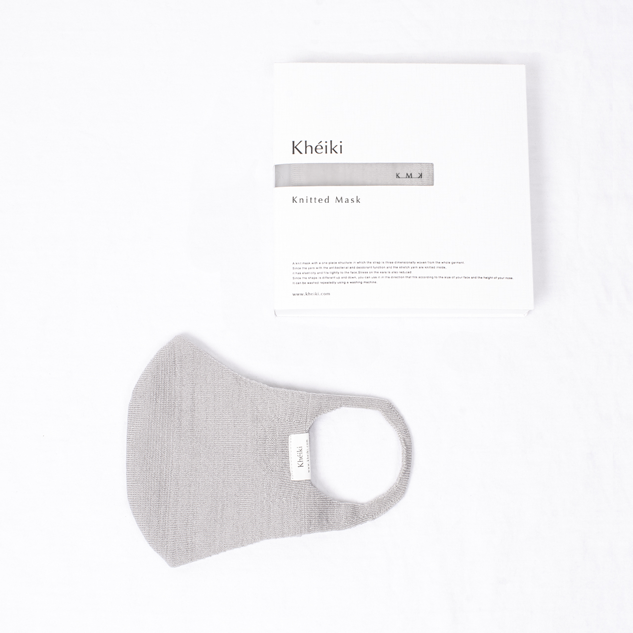 Knitted Mask 2pcs Set / KMK / #Pale Gray